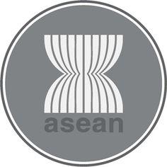 Gambar Diatas Logo Organisasi Internasional Asean Balutan Warna Hitam Putih