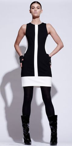 Black + White Pink Tartan designed by Kimberley Newport-Mimran, has a sleek and sophiscated look to their clothing line