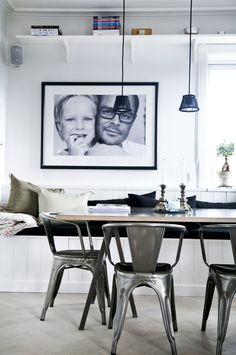 An enlarged family photo can be great art in any room!