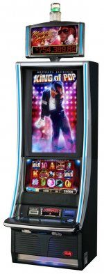 Michael Jackson-King of Pop Slot Machine. OMG had so much fun in las vegas playing this slot machine. you sit in this seat with a bunch of speakers in it and every time you win something it starts blasting loud music and shaking  and the game does all kind of cool stuff.