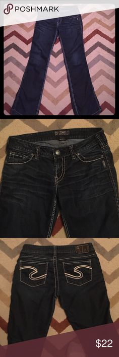 Like New Silver Jeans (Frances) Like New Silver Jeans (Frances)-double stitch and stretchy-31 inseam Silver Jeans Jeans Flare & Wide Leg