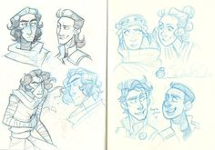 Sketchdump scans 'cause it's been over a week and it's time to take out the trash haha~