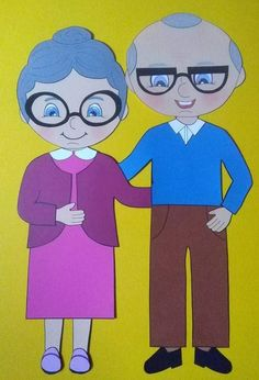 Grandparents Day Crafts, Aging Humor, Family Drawing, Mask Template, Clipart, My Family, Art Lessons, Creative Art, Arts And Crafts
