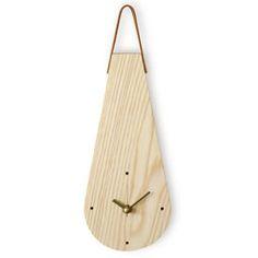 Ash Wood Water Drop Design Wall Hanging Non-Ticking Silent Clock