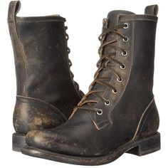 Frye Jenna Combat Women's Boots, Black ($230) ❤ liked on Polyvore featuring shoes, boots, black, military boots, platform boots, leather combat boots, combat boots and combat booties