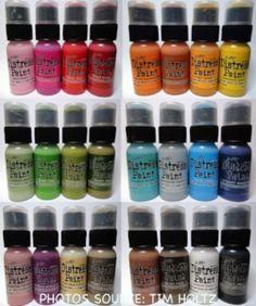 Tim Holtz Paint Distress CONJUNTO DE 24 guardabosques TDD24SET