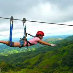 Zip lining in Costa Rica, scary but WAY fun.... Supermanning over the forrest