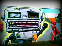 Street art Robot    Street art, Matthæusgade