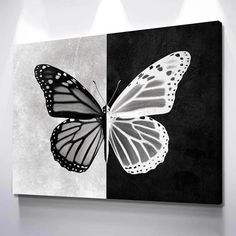 Easy Canvas Art, Simple Canvas Paintings, Small Canvas Art, Mini Canvas Art, Acrylic Painting Canvas, Butterfly Acrylic Painting, Contrast Art, Trippy Painting, Art Painting Gallery