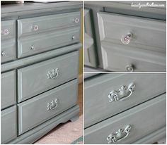 Old Dresser Make Over Done by a 9 year old from beautyandbedlam.com