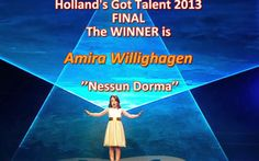 AVE MARIA….AMIRA WILLIGHAGEN DOOR NAAR DE FINALE! | Amira-This beautiful young lady with the magnificent voice won.  ♥♥♥