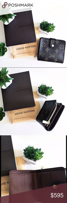 Louis Vuitton Zippered Compact Wallet - PRICE FIRM Authentic (vintage) Monogram Louis Vuitton Zippered Compact (small) Wallet. Used 2xs. MINT CONDITION. Made in Spain #CA0036. Comes with gift box, dust bag, product tags. Louis Vuitton Bags Wallets