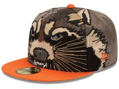 Guardians of the Galaxy GOTG Character Face 59FIFTY Cap Hats New Era  Fitted f0b875b558b4