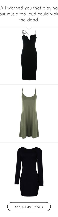 """// I warned you that playing your music too loud could wake the dead."" by mikaelsonlegacy ❤ liked on Polyvore featuring tombraider, art, dresses, short dress, vestidos, black, tight dresses, victoria beckham, short asymmetrical dress and victoria beckham dresses"