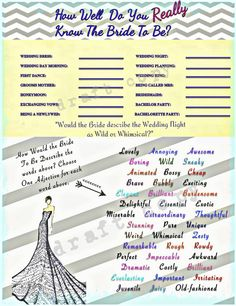 Bachelorette Party Game-Instant Download