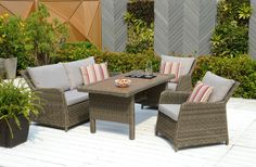 Rattan Weave Garden Furniture Alamo Casual Dining Sofa Set Tanami Outdoor Rattan