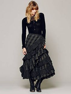 Free People Enya Plaid Skirt, $268.00