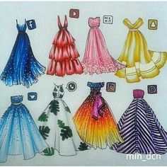 Image result for colorful dress illustrations