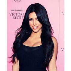 Kim K black hair