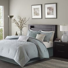 Madison Park Ventura Blue 7-Piece Comforter Set