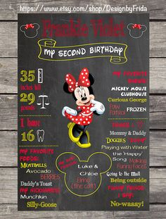 PERSONALIZED MINNIE MOUSE My Birthday Custom by DesignbyFrida