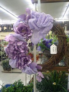 Metallic purple side wreath