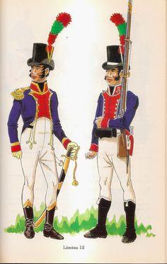 Spanish; Officer & Volunteer of the Tercio de Andaluces del Rio de la Plata, 1806-07