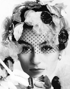 """Anouk Aimée photographed by William Klein for Vogue, June 1, 1961. """