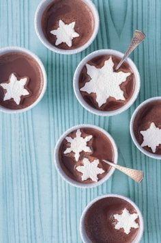 Snowflake marshmallows & hot chocolate.