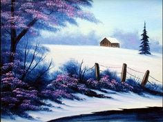 First Snow (8x10) / Small Oil Painting Exercise / Early Encore Edition - YouTube