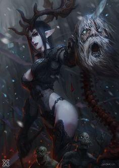 As incríveis ilustrações de fantasia, ficção científica e terror de XiaoGui Mist