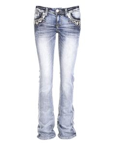 ceb2127407 Grace in LA | Women's Floral Slim Fit Boot Cut Jean | Country Outfitter  Country Outfitter