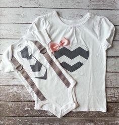 Big sister Little brother shirt & bodysuit set tie by mmhandmades, $39.00