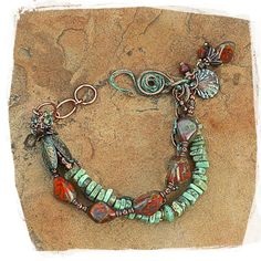 Hey, I found this really awesome Etsy listing at https://www.etsy.com/ru/listing/182890894/turquoise-and-travertine-patina-bracelet
