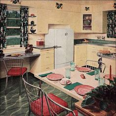 1950s kitchen images   1950′s Color Inspiration 5.18.10 - 1950s Kitchen Turquoise and Red2 ...