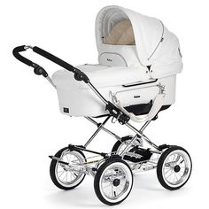 White Leatherette Pram pushchair