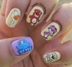 pb&j otter nails!! childhood tv show inspiration