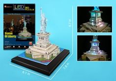 Statue of Liberty 3D Puzzle with LED Lights - 37 Pieces