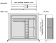 Standard Size Sliding Wardrobe Doors