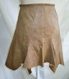 Zac Posen Lambskin Leather Mini High Waist NOS Skirt Shark Bite Hem Fluted 2 #zacposen #Mini
