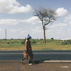 A local on the way between Koalack and Tambacounda - Sénégal