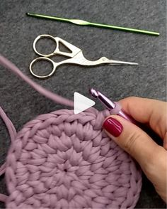 How to knit pink rug video tutorial