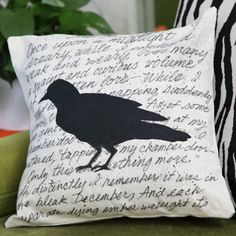 Haunted Silhouette Pillow. What if I were to use other literary figures? *ponders*