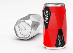 Faceted coke can