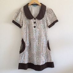 '60s-Inspired Floral Print Minidress Adorable vintage-inspired floral print dress with large Peter Pan collar, gathered (stretchy) waist, and pockets. Boutique purchase. Marked XL but probably best on a size 6. Measurements coming soon or upon request! :) Dresses Mini