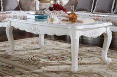 European country style elegant living room coffee table - MelodyHome.com