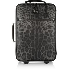 Dolce & Gabbana Leather-trimmed printed scotch grain suitcase ($2,545) ❤ liked on Polyvore featuring bags, luggage, travel, suitcases and other