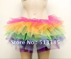 Aliexpress.com : Buy Free Shipping! New Lovely Fluffy Organza Girl Rainbow Tutu Ballet Mini Dance Rave Party Skirt Multi color Rainbow from Reliable tutu dance suppliers on Shenzhen Women's cosmetics trading Co,LTD $11.99