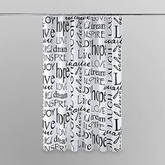 Essential Home Shower Curtain - Live, Laugh, Love