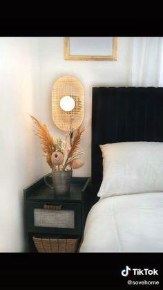 Home Bedroom, Diy Bedroom Decor, Bedroom Furniture, Diy Furniture, Diy Home Decor, Bedrooms, Cheap Diy Headboard, Diy Tufted Headboard, Wallpaper Headboard